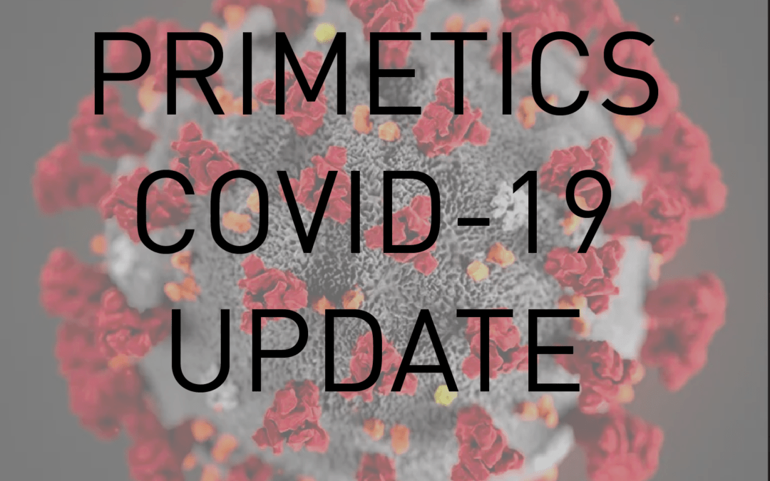 Primetics Covid-19 Update